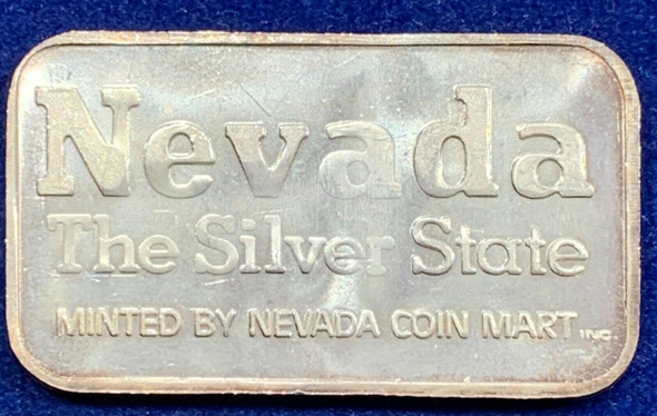 Nevada Coin Mart Vintage 1 oz Silver Art Bar Prospector