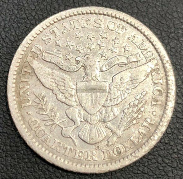 1896-O Barber Silver Quarter