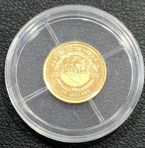 2000 Liberia $25 Gold -Napolean