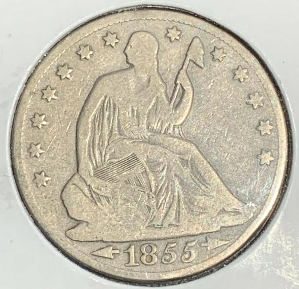 1855-O Seated Liberty Half Dollar Arrows