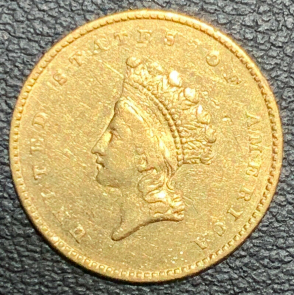 1855 United States Indian Princess, Small Head $1 Gold Coin Type II