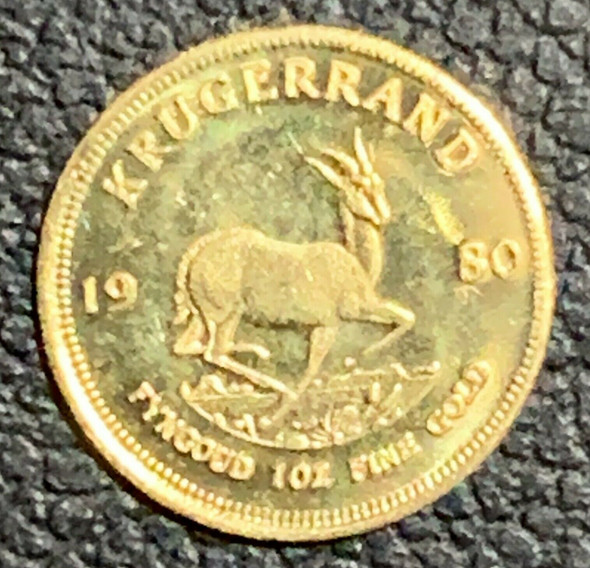 14K Gold Miniature 1980 Kruegerrand Gold 1 oz Coin #1