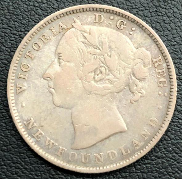 1899 Canada Newfoundland Queen Victoria 20 Cents