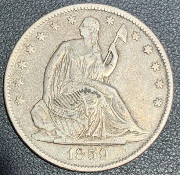 1859-O Seated Liberty Half Dollar