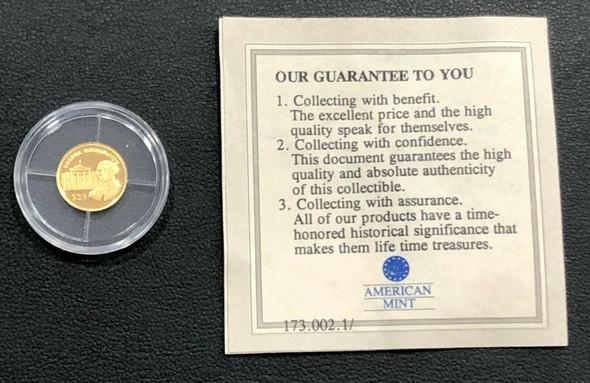 Liberia 2000 $25 Gold George Washington