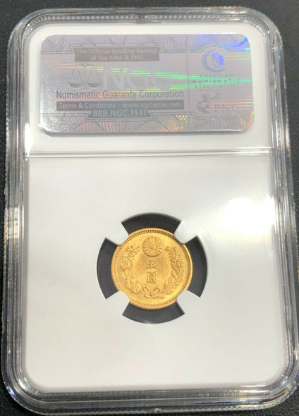 Japan M31 (1898) Japan 5 Yen Gold NGC MS 65