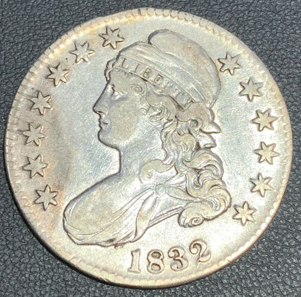 1832 Capped Bust, Lettered Edge Silver Half Dollar