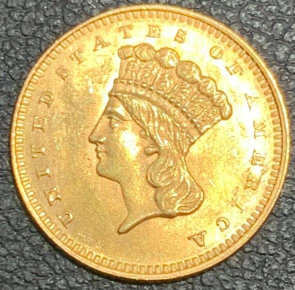 1862 Indian Princess, Large Head $1 Gold Type III