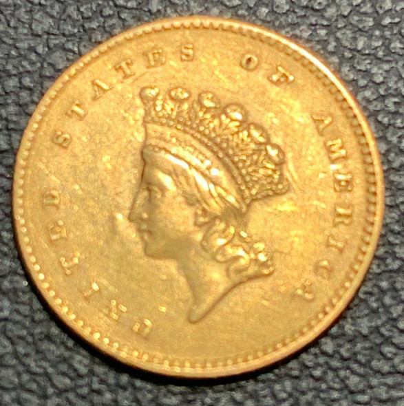 1854 Indian Princess, Small Head $1 Gold Coin Type II
