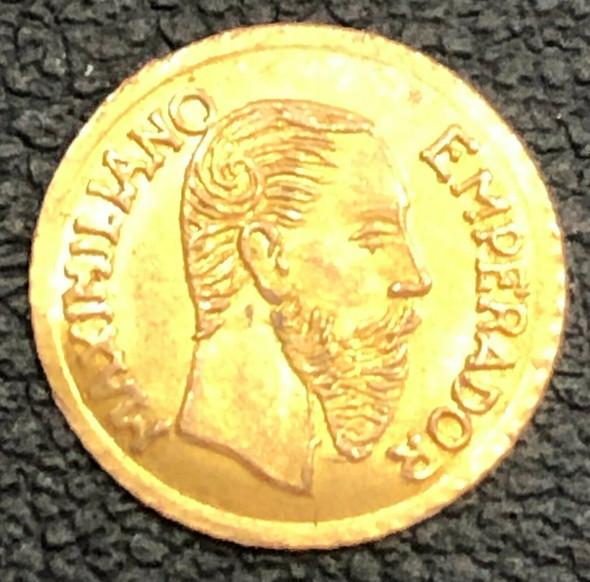 Empire of Mexico 1865 Gold Coinage Maximilian