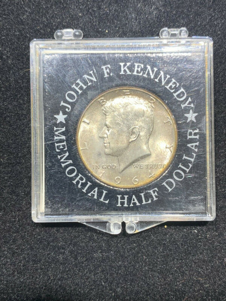 JFK 1964 Half Dollar Vintage Memorial Label by The Singer Company May 1964