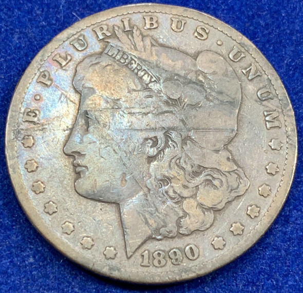 1890 CC Silver Morgan Dollar
