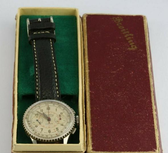 Near Mint Breitling Chronomat Reference # 769 in Original Box circa 1955