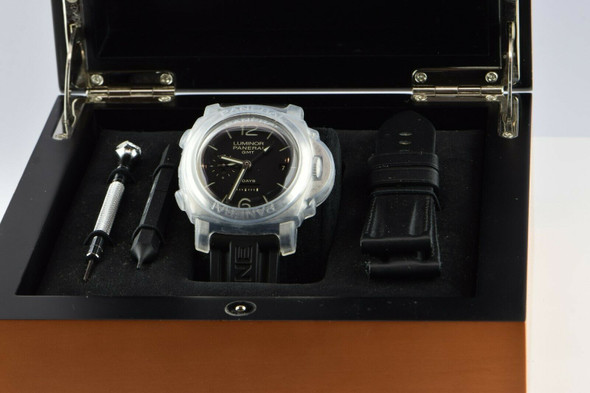 Luminor GMT Panerai 8 Day Stainless Steel, 21 Jewel 3 Barrel Manual Wind Watch
