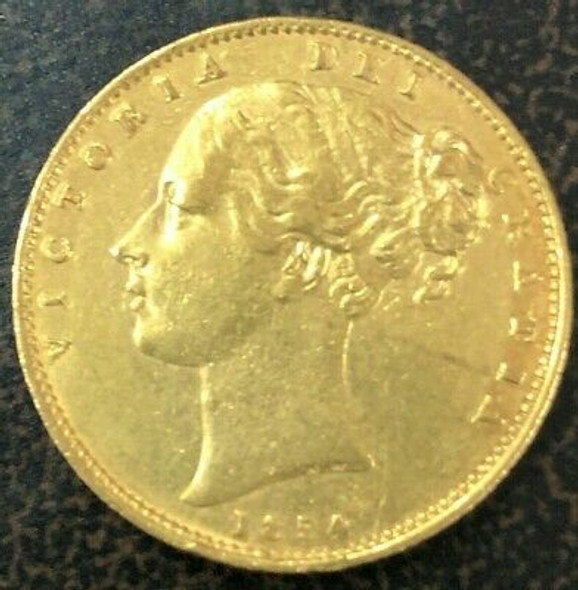 1854 Great Britain Gold Sovereign
