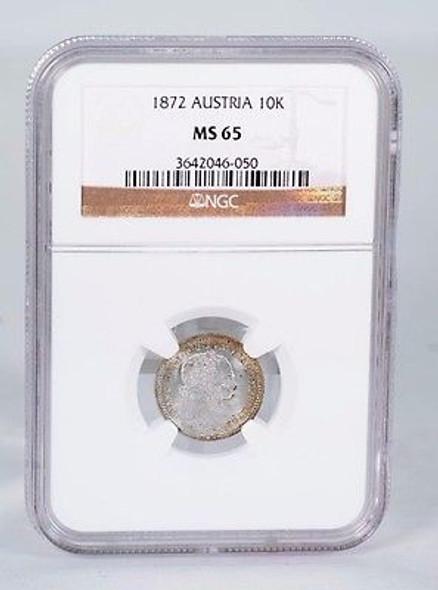 1872 Austria 10K NGC MS-65