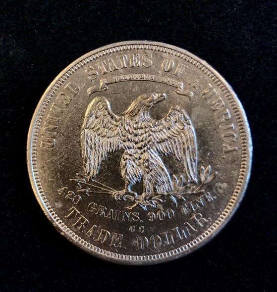 1875-CC Trade Silver Dollar