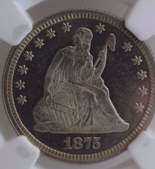 1875 Seated Liberty Quarter NGC PF-65 Cameo