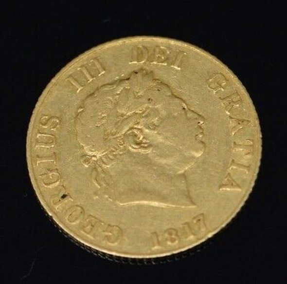 1817 Great Britain Georgius III 1/2 Gold Sovereign with Shield