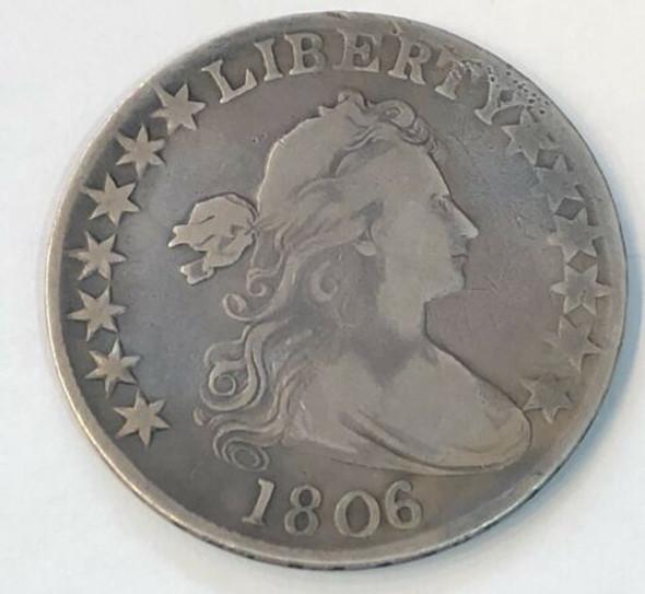 1806 Draped Bust Heraldic Eagle Reverse Half Dollar
