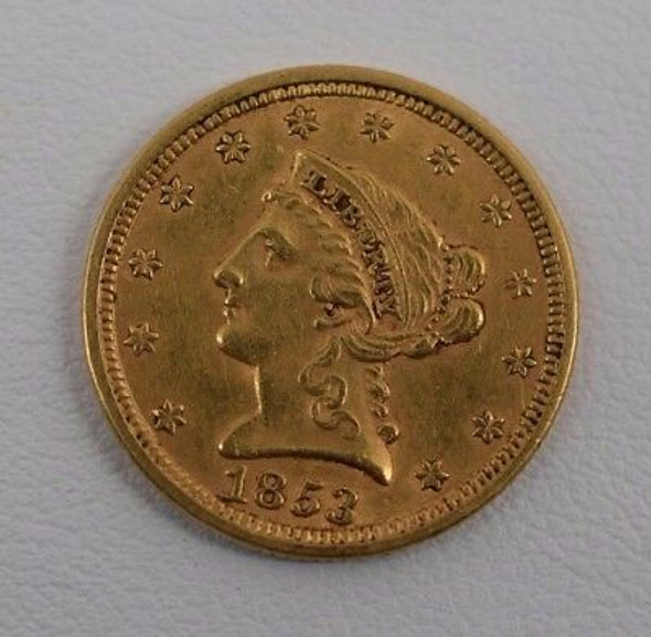 1853 $2.50 Liberty Head Gold, Quarter Eagle