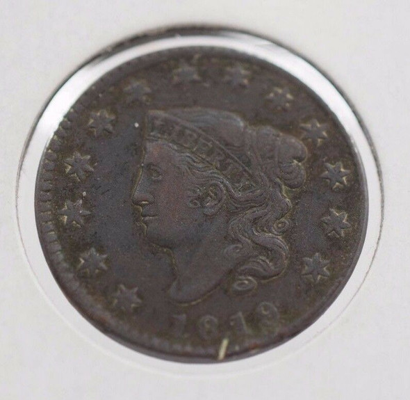 1819 Matron Head Large Cent, Very Fine