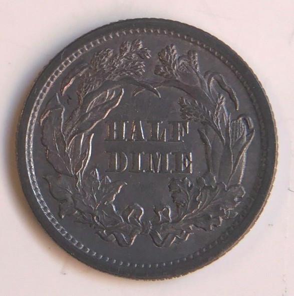 1872 Seated Half Dime