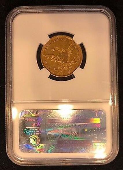1836 Classic Head $5.00 Gold Half Eagle, No Motto NGC AU-53