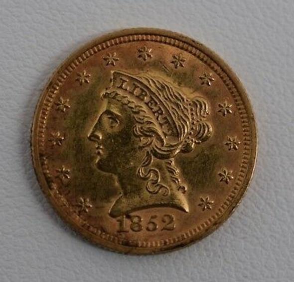 1852 $2.50 Liberty Gold