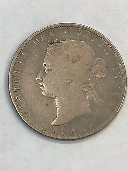 1871-H Canada Fifty Cents