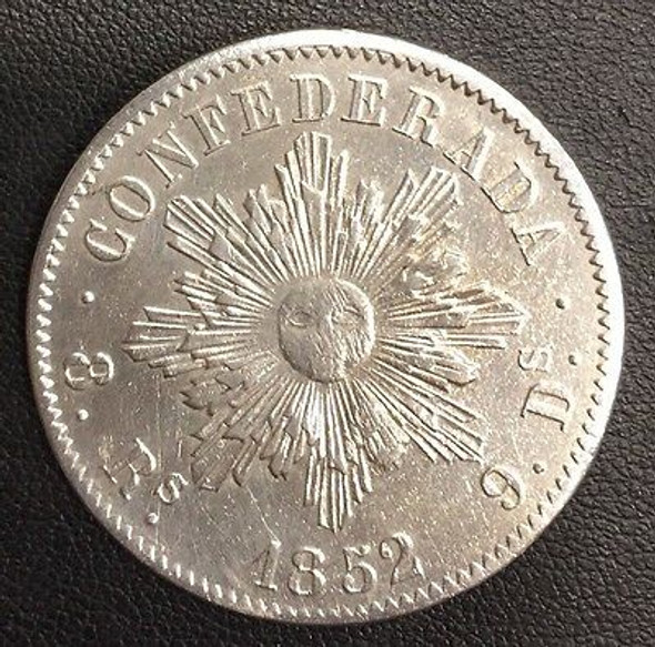 1852 Argentina 8 Reales, Cordoba
