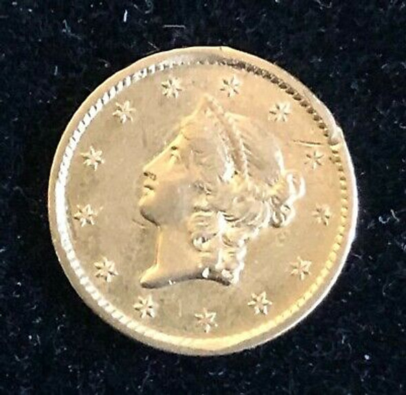 1854-S U.S. One Dollar Gold