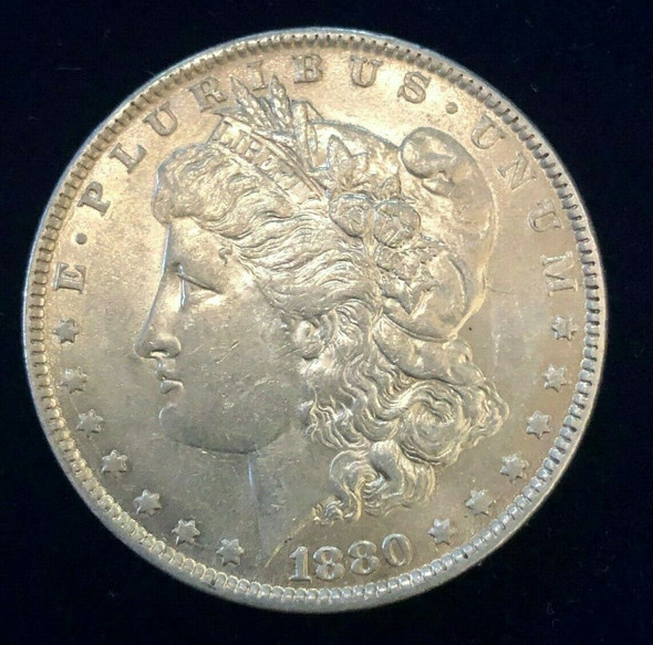1880-O Silver Morgan Dollar Massive Die Crack