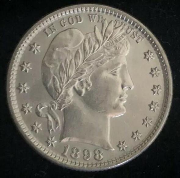 1898 Philadelphia Mint Silver Barber Quarter