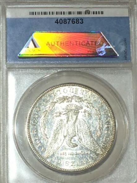 1878-CC Silver Morgan Dollar ANACS AU 53 TOP 100 VAM, Vam 24 DDO
