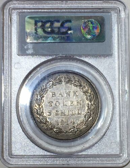 1814 Great Britain Laureate 3 Shilling PCGS XF 45