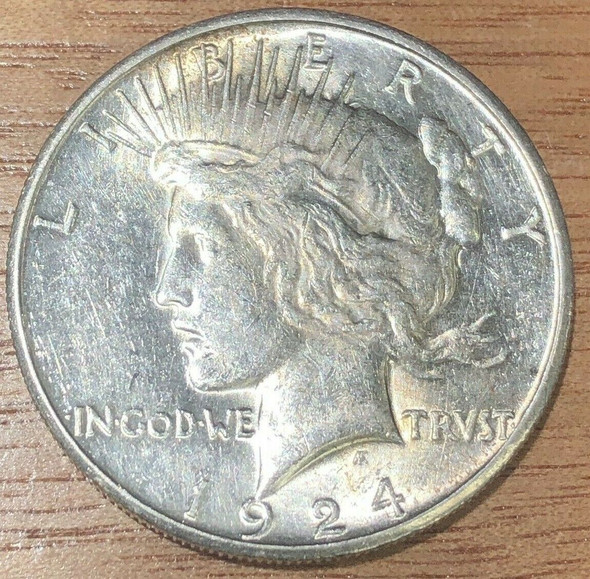 1924-S San Francisco Mint Silver Peace Dollar