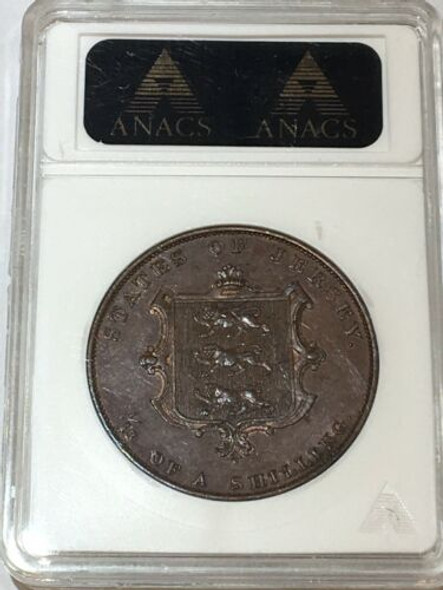 Jersey 1858 1/13 Shilling ANACS MS 61 Brown