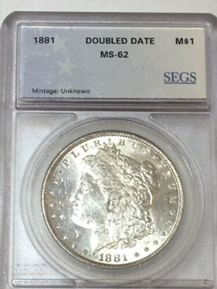 1881 Silver Morgan Dollar Double Date