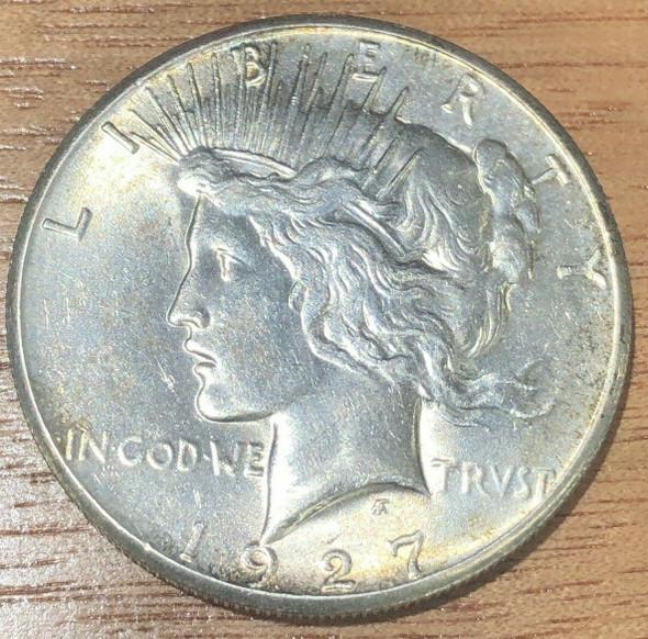 1927 Philadelphia Mint Silver Peace Dollar