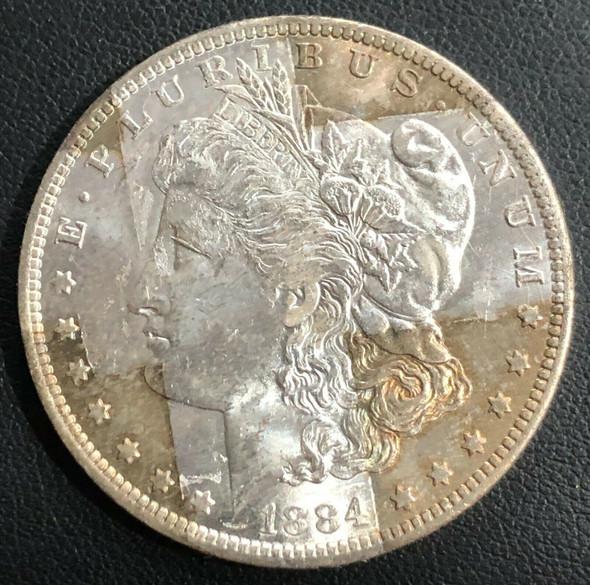1884-O Morgan Silver Dollar Band Toning