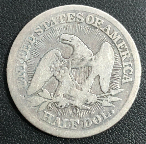 1853-O Seated Liberty Silver Half Dollar Rays and Arrows