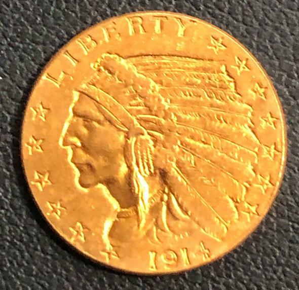 1914 Indian Head $2.50 Quarter Eagle