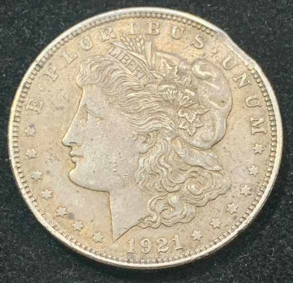 "1921 Silver Morgan Dollar Mint Error ""Clipped"""