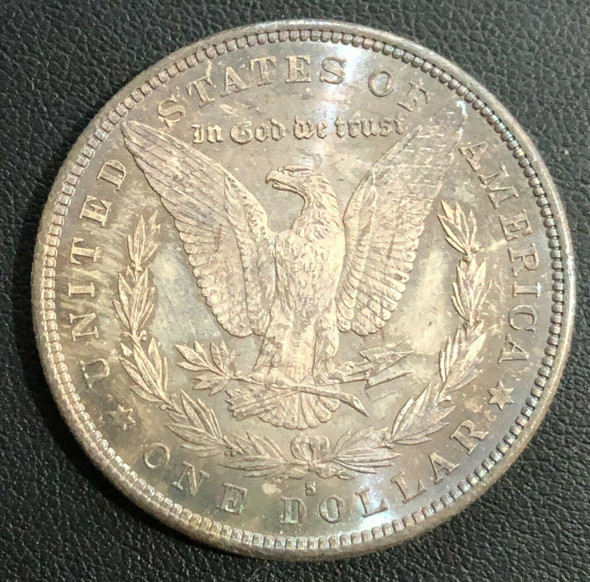 1880-S Morgan Silver Dollar Toned