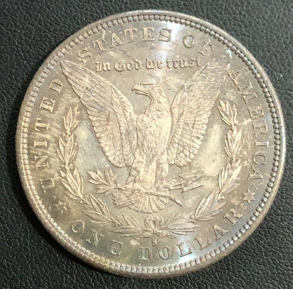 1880-S Morgan Silver Dollar Toned