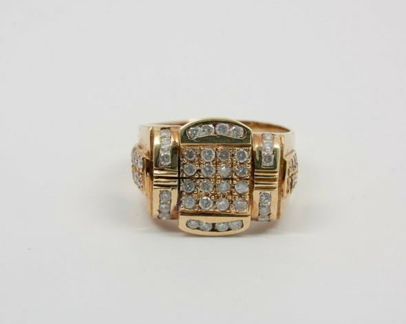 14K Yellow Gold Men's 1.5 ct. tw. Diamond Ring Circa 1970, Size 12.5