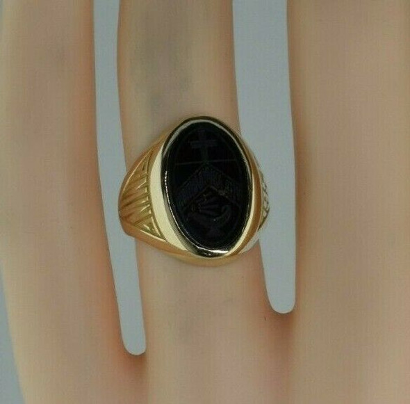 10K Yellow Gold 1950 School Ring Size 5 Circa 1950