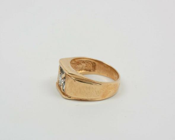 14K Yellow Gold Men's 1/3 ct. Diamond Ring, Size 7