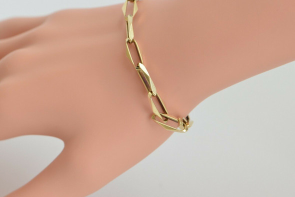 14K Yellow Gold Modernist Georg Jensen Chain Bracelet